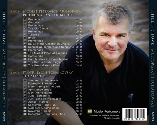 Phillip Shovk Mussorgsky Tchaikovsky CD Tray