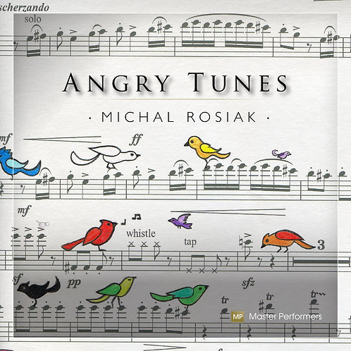 Michal Rosiak, the composer, flute, alto flute ANGRY TUNES