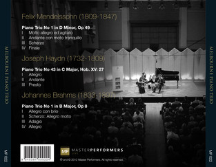 Melbourne Piano Trio CD Tray