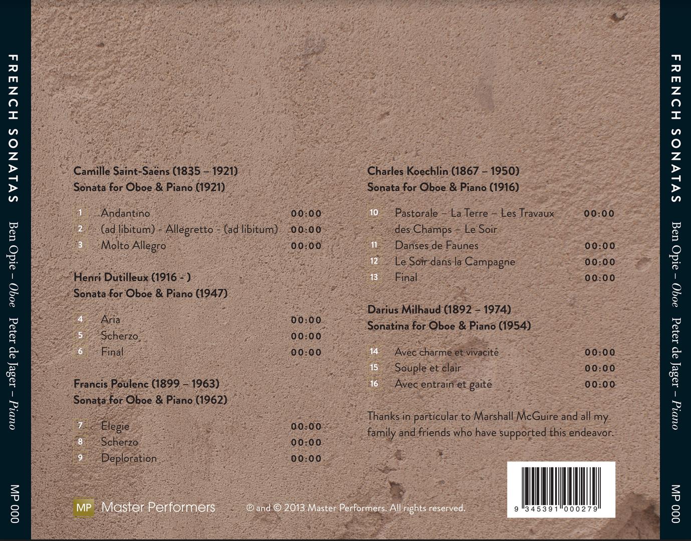 Ben Opie Peter de Jager French Sonatas Tray