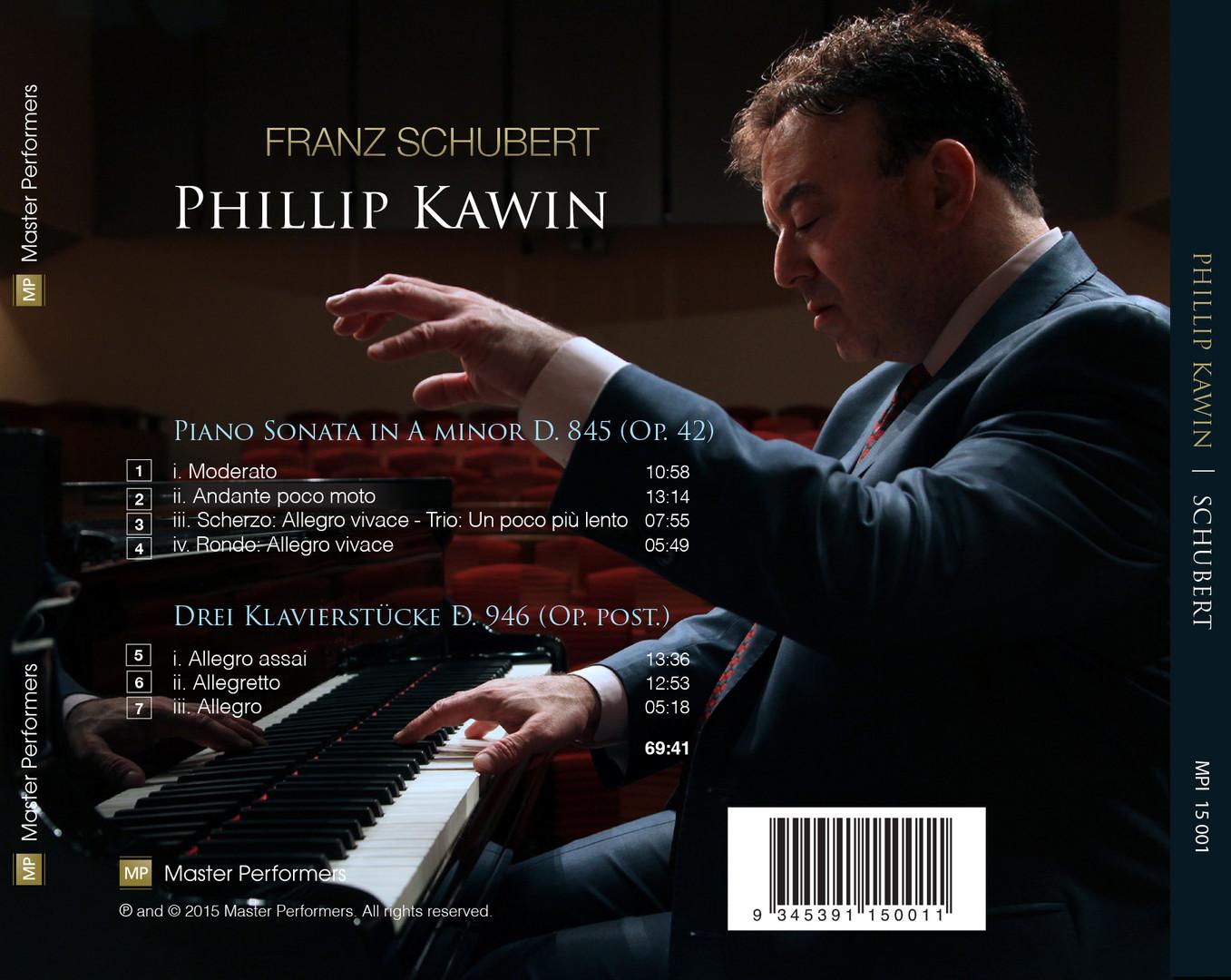 Franz Schubert / Phillip Kawin CD Tray