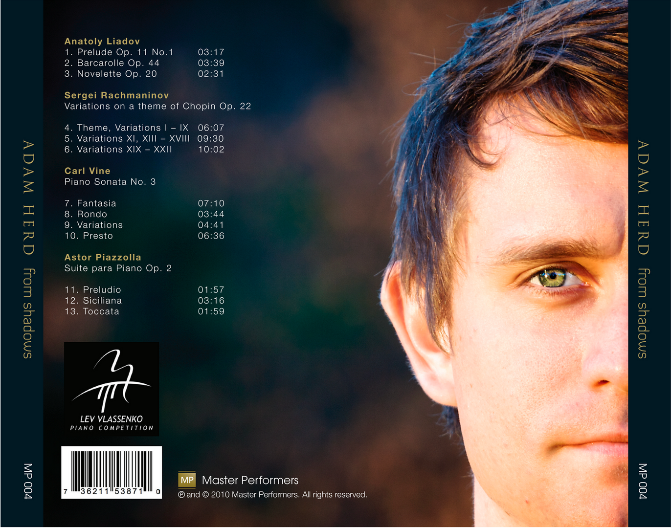 Adam Herd From Shadows CD Tray