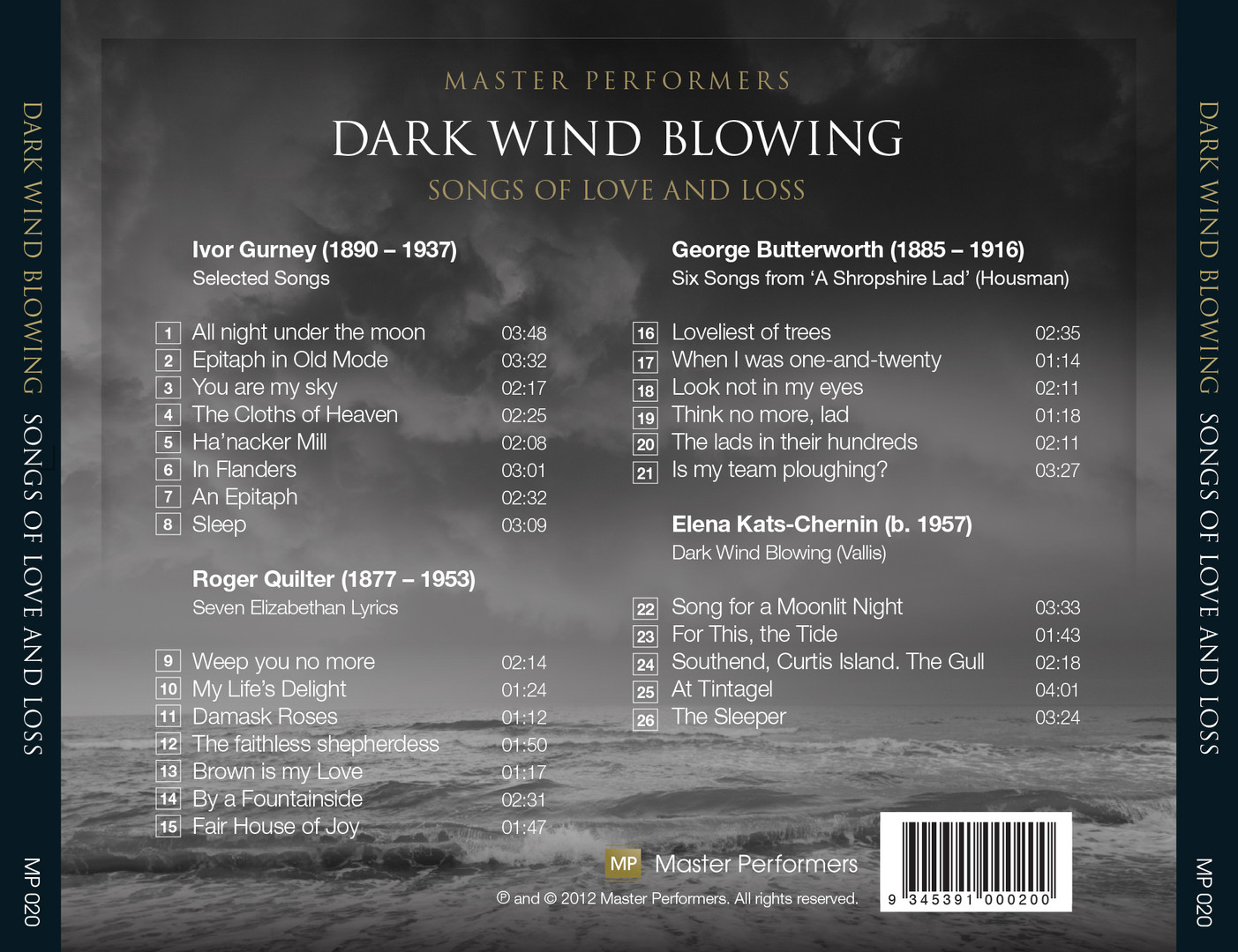 Dark Wind Blowing Stefan Cassomenos Christopher Saunders CD Tray