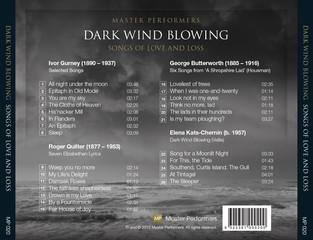 Dark Wind Blowing Stefan Cassomenos Christopher Saunders CD Tray