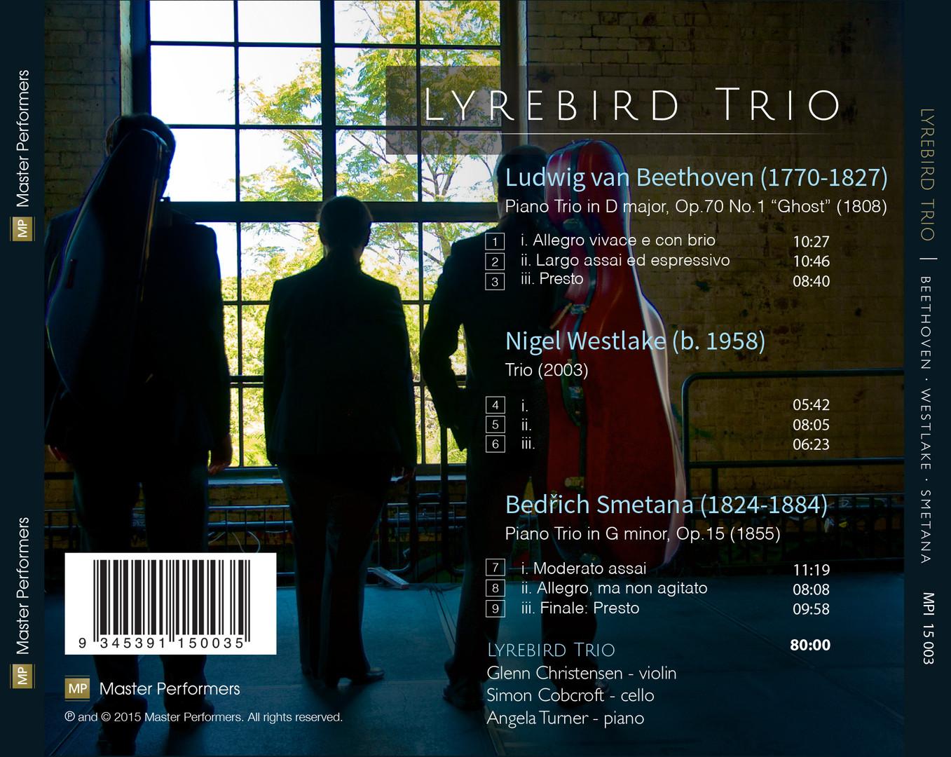 Lyrebird Trio Beethoven Westlake Smetana CD Tray