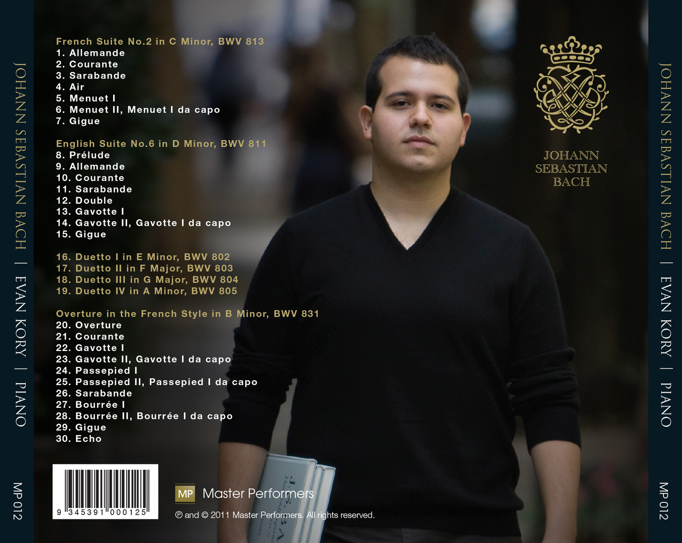 Evan Kory J.S. Bach CD Tray