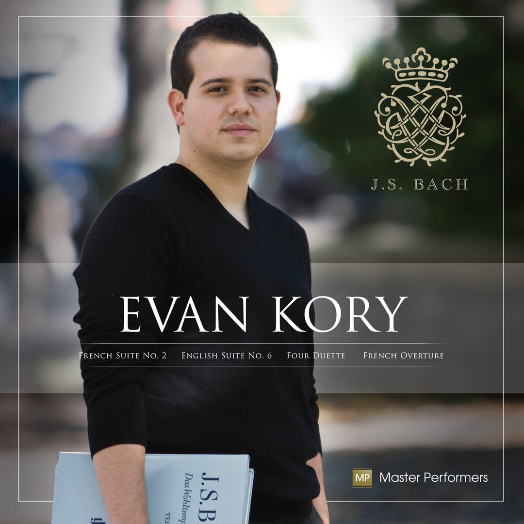 Evan Kory J.S. Bach CD Cover