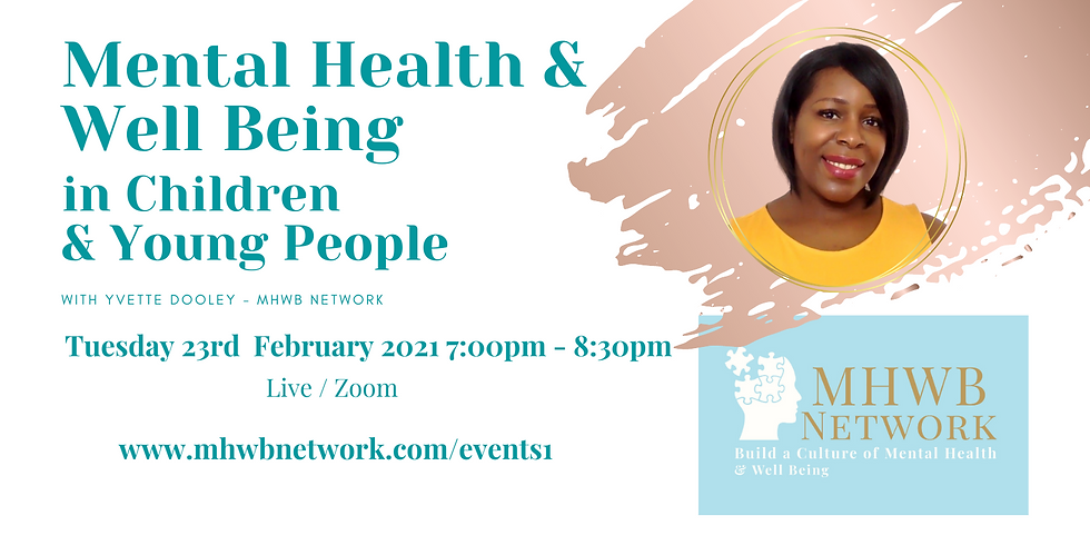 Mental Health & Well Being in Children & Young People - Certified Course