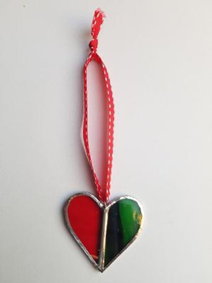 Stained Glass Heart 2