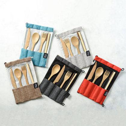 Bamboo Cutlery Set | Eco-Friendly Reusable Handmade Utensils