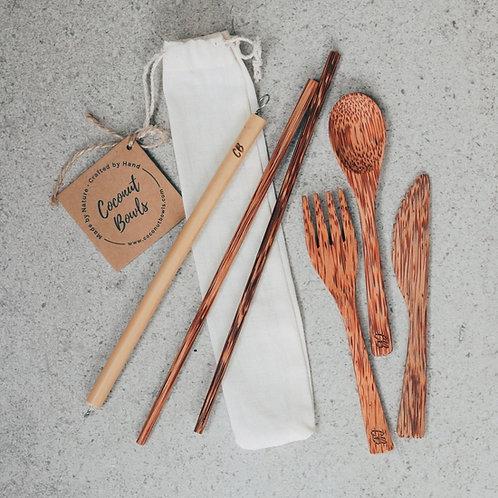 Wooden Coconut Cutlery Set