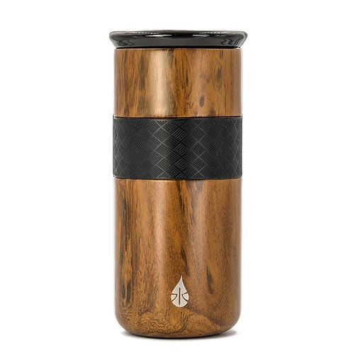 16 oz Teak Wood Tumbler with ceramic lid