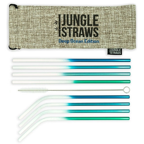 Jungle Straws: Deep Ocean Stainless Steel Straws