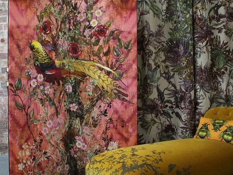 We can't get enough of Timorous Beastie fabric and wall coverings.
