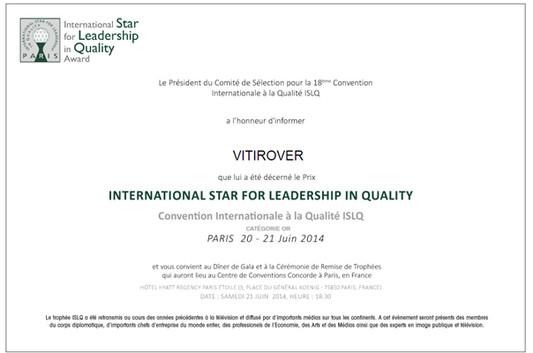 Diplôme International Star for Leadership in Quality