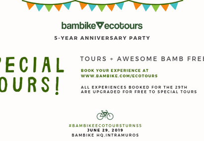 You're Invited - Bambike Ecotours 5-Year Anniversary Party!