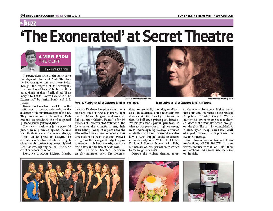 """The Exonerated"" Theater Review - Laura Lockwood, Role of Sunny Jacobs"