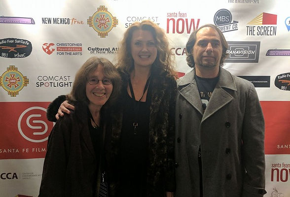 Micki Dickoff (The Gathering), Laura Lockwood (Heavy Feathers), Erik Niel (Stronger than Bullets) at the Santa Fe Film Festival 2016