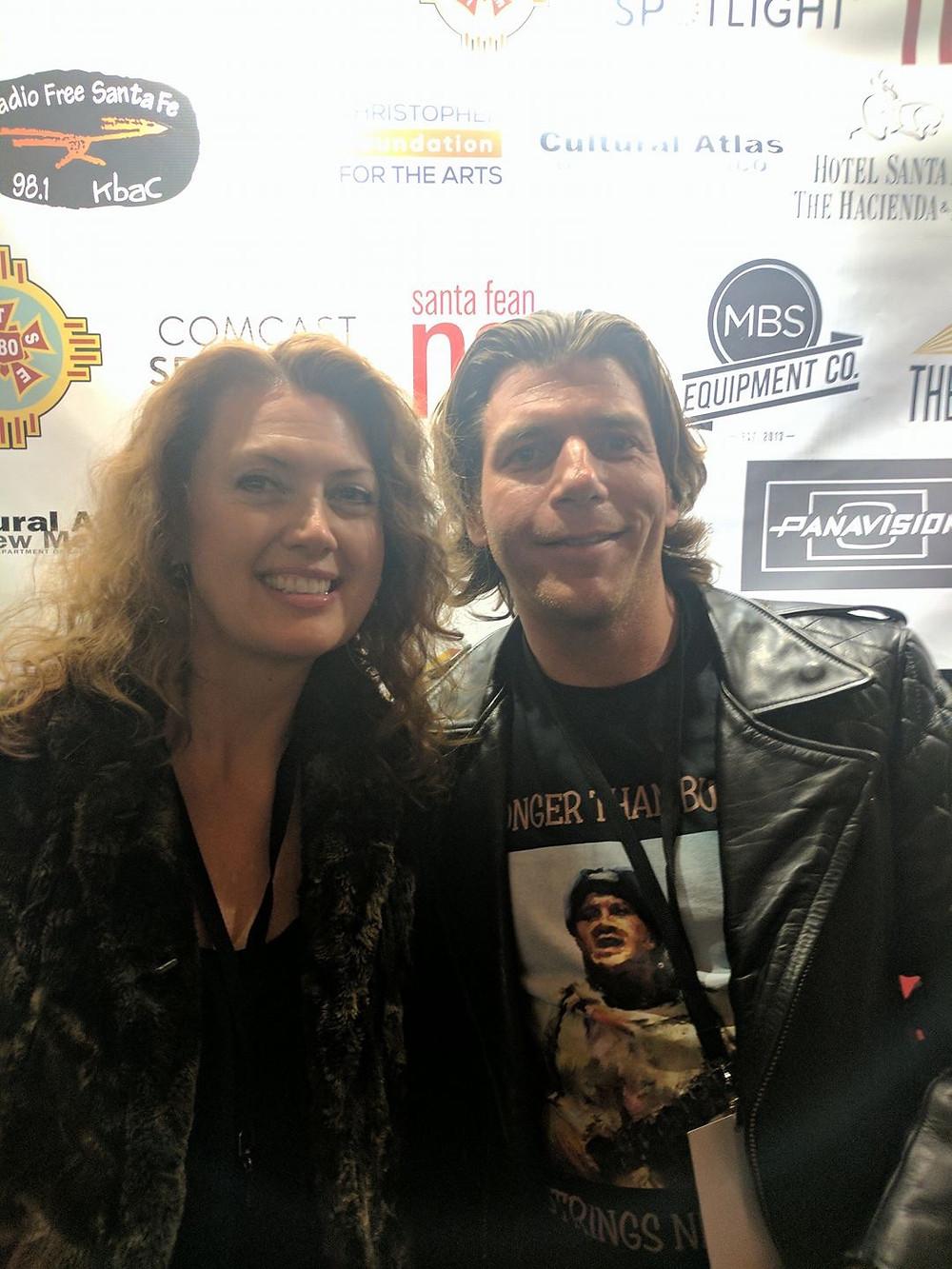 Laura Lockwood (Heavy Feathers) and Matthew Millan (Stronger than Bullets) at Santa Fe Film Festival 2016