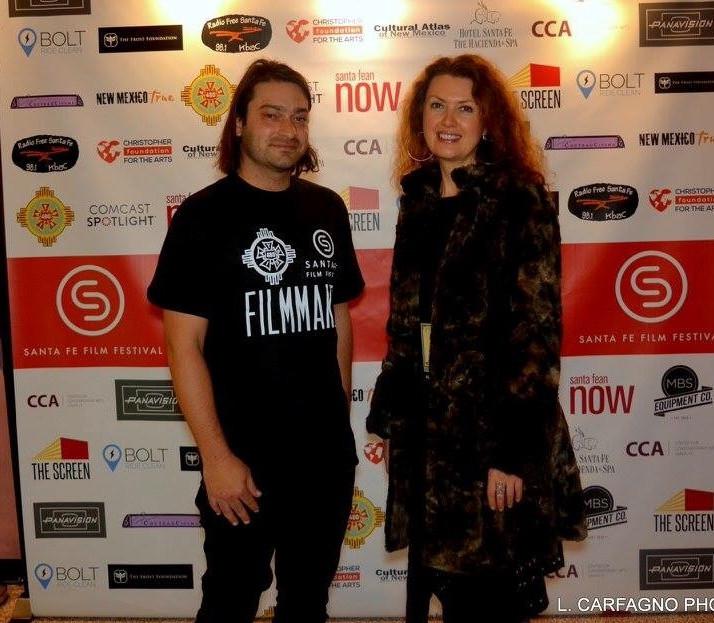 Omar Mateen and Laura Lockwood at Santa Fe Film Festival 2016