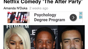 """Just wrapped shooting Netflix film """"The After Party"""" with Blair Underwood and KYLE Harvey"""