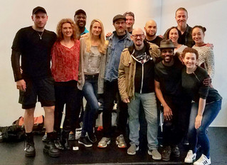 "Our rehearsal had a surprise visitor - Erik Jensen, playwright of ""The Exonerated"" (co-playwright wi"
