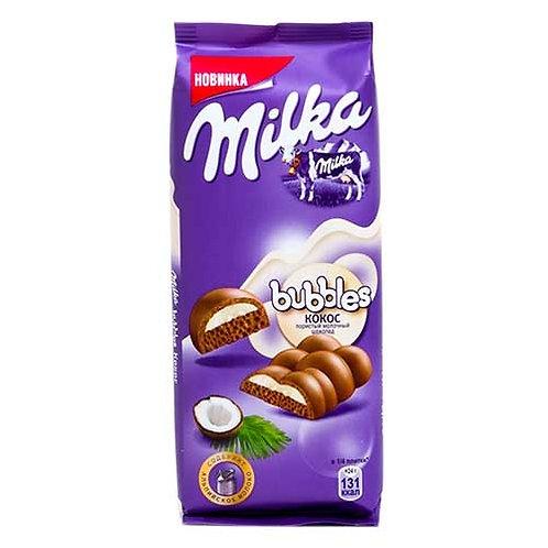 Шоколад Милка пористый с кокосом Бабблс 83гр 1шт. оптом
