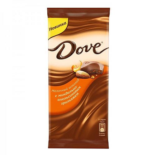 Шоколад ДАВ мол. минд. апелсин  90гр 1шт. оптом