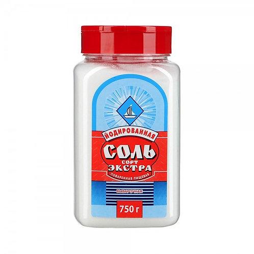 Соль Мелкая  Экстра   750гр  пэт 1шт. оптом