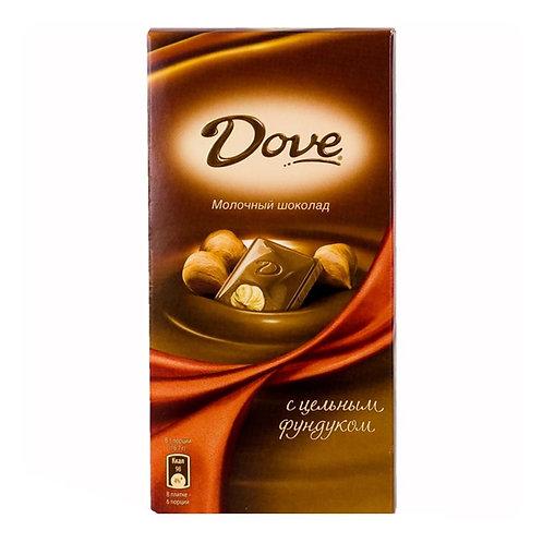 Шоколад ДАВ мол. фундук  цельный 90гр 1шт. оптом