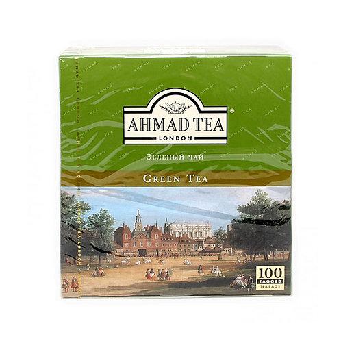 Чай Ахмад   Анг. Зеленый (100 пакет)  1шт. оптом