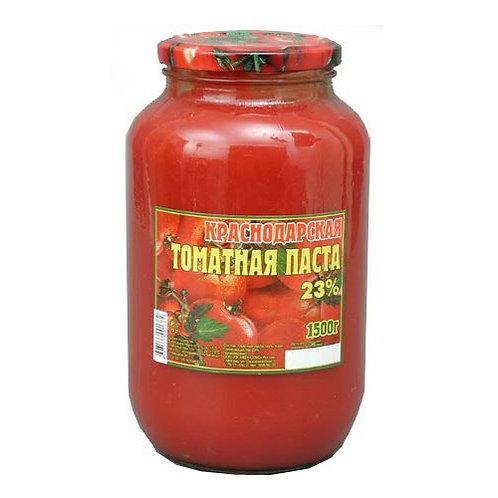 Томатная паста  Краснодар 1,5кг  ст 1шт. оптом