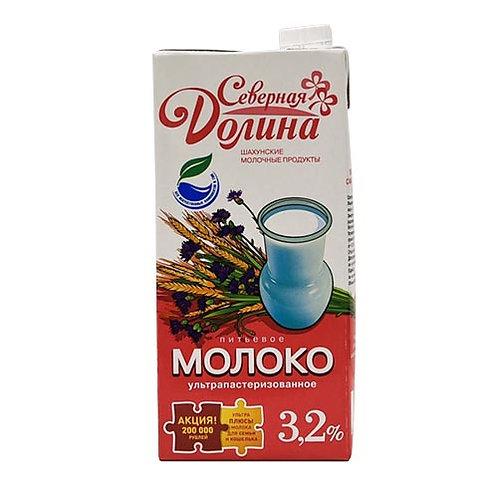 """оптом Молоко """"Северная Долина"""" 3,2% 1л (1х12) (кр)"""