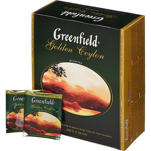 Чай Гринфилд  (100 пакет) черный 1шт. оптом