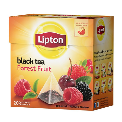 Чай Липтон Ягодно фруктовый  (20 пакет) пирам 1шт. оптом