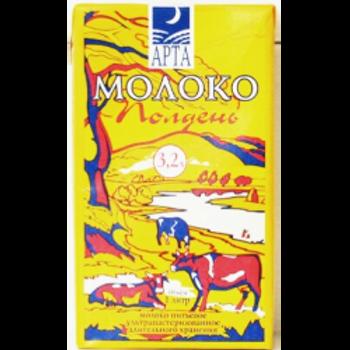 "Молоко ""Арт Полдень"" 3,2% 1л (1х12) оптом"