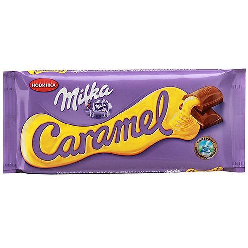 Шоколад Милка  карамель  90гр 1шт. оптом