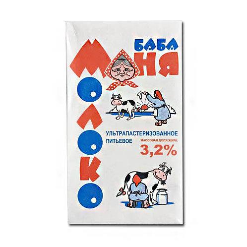 """Молоко """"Баба Маня"""" 3,2% 1л (1х12) оптом"""