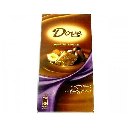 Шоколад ДАВ мол. фундук изюм 90гр 1шт. оптом