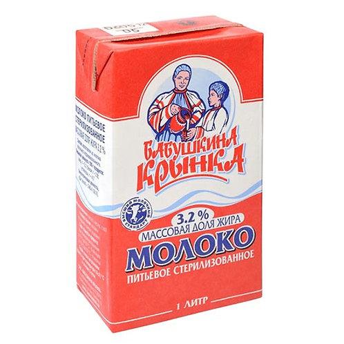 """Молоко """"Бабушкина  Крынка"""" 3,2% 1л (1х12) оптом"""