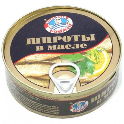 "Консерва  Шпроты ""Толстый Боцман"" 230гр 1шт. оптом"