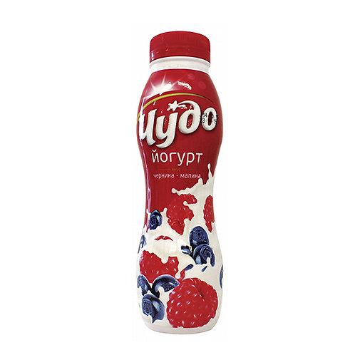 Йогурт Чудо Черн.-малина 2,4%пет 290гр 1шт.