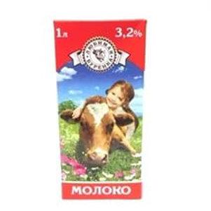 """Молоко """"Любимая Буренка"""" 3,2% 1л (1х12) оптом"""