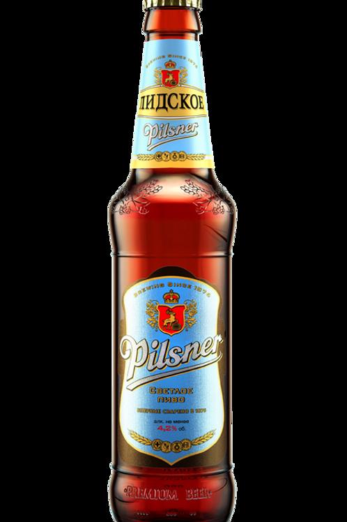 Лидское Пилснер 0.5л  ст. (1х20) пиво оптом