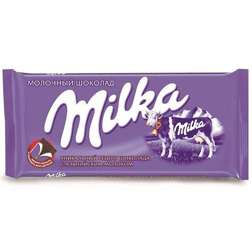 Шоколад Милка   молочный  90гр 1шт. оптом