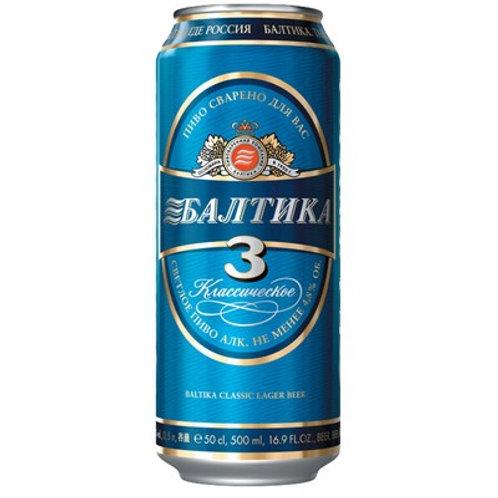 Балтика №3 ж/б 0.5л  (1х24) пиво оптом