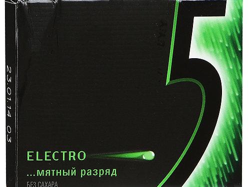 Ригли 5  Мятный разряд Electro (1х10) оптом
