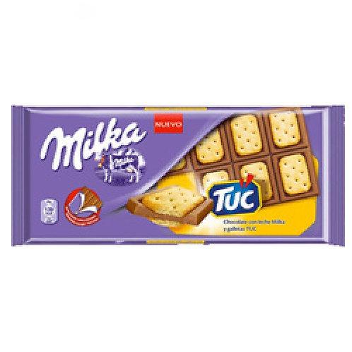 Шоколад Милка Тук с солёным крекером 90гр 1шт. оптом