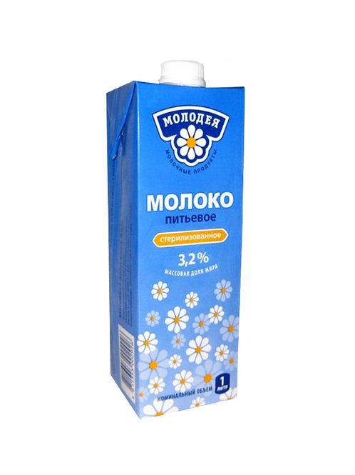 """оптом Молоко """"Молодея"""" 3,2% 1л (1х12) (кр) Беларусь"""