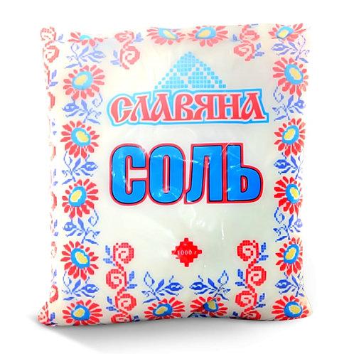 """Соль Крупная  """"Славяна"""" 1кг пакет 1шт. оптом"""